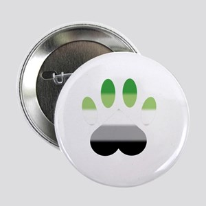 "Aromantic Pride Paw 2.25"" Button"