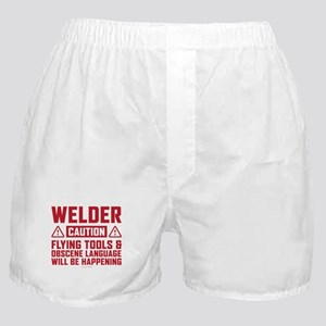 Caution Welder Boxer Shorts