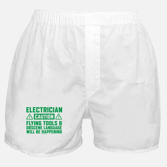 Caution Electrician Boxer Shorts
