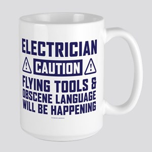 Caution Electrician Mugs