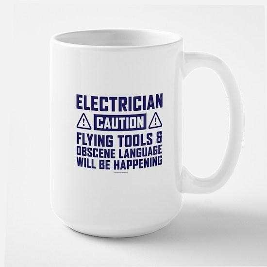 Caution Electrician Mugs