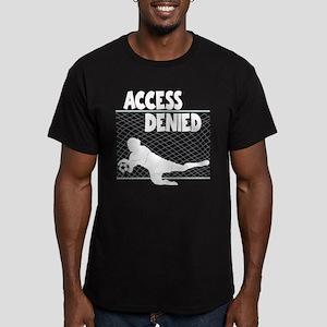 ACCESS DENIED Men's Fitted T-Shirt (dark)