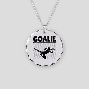 GOALIE Necklace Circle Charm