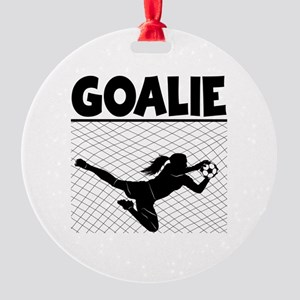 GOALIE Round Ornament