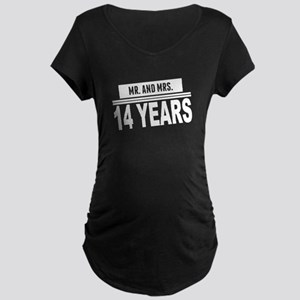 Mr. And Mrs. 14 Years Maternity T-Shirt