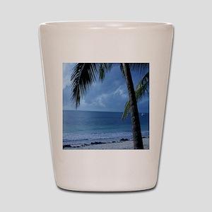 Palm Tree Beach Shot Glass