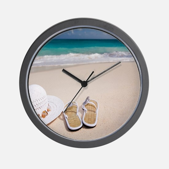 Cute Beach ocean Wall Clock