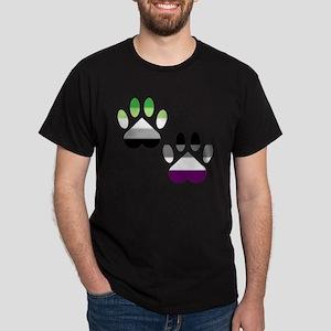 Aro Ace Pride Paws Dark T-Shirt