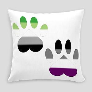 Aro Ace Pride Paws Everyday Pillow