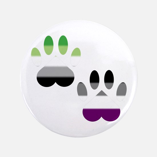 Aro Ace Pride Paws Button