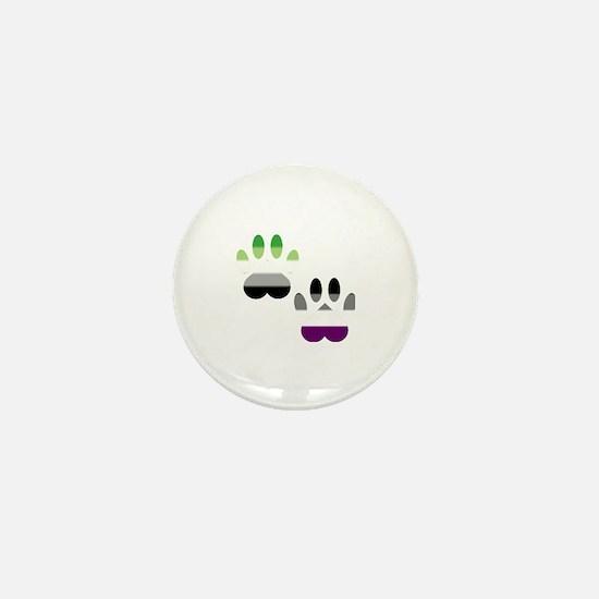Aro Ace Pride Paws Mini Button