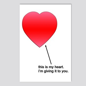 This is my Heart Valentine Postcard (Package of 8)