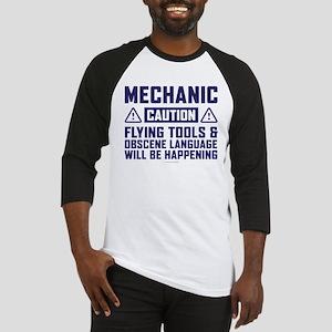 Caution Mechanic Baseball Jersey