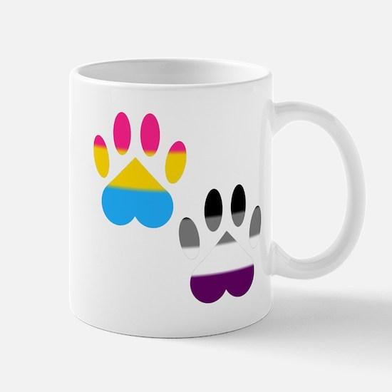 Panromantic Ace Pride Paws Mug