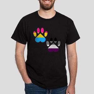 Panromantic Ace Pride Paws Dark T-Shirt