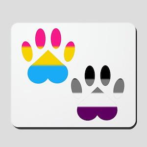Panromantic Ace Pride Paws Mousepad