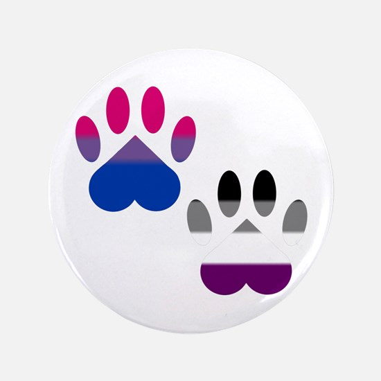 Bi Ace Pride Paws Button