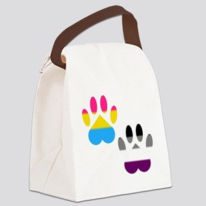 Panromantic Ace Pride Paws Canvas Lunch Bag