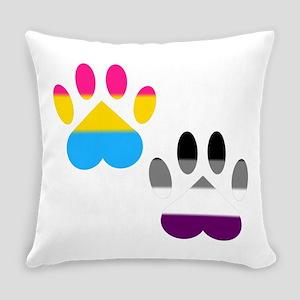 Panromantic Ace Pride Paws Everyday Pillow