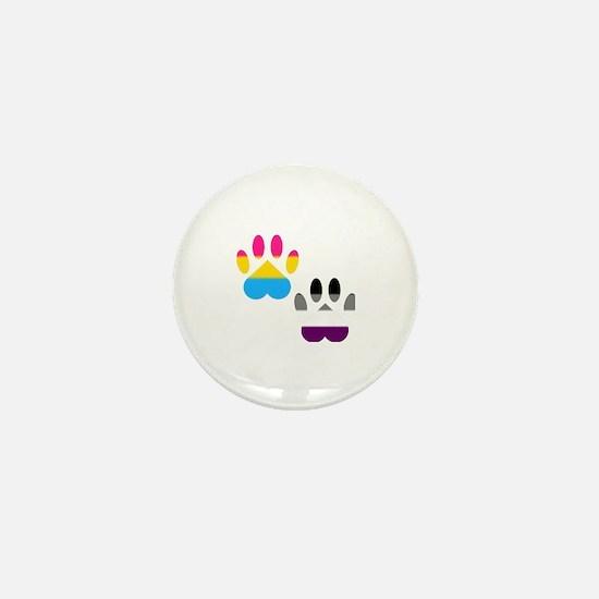 Panromantic Ace Pride Paws Mini Button