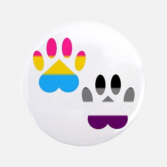 Panromantic Ace Pride Paws Button
