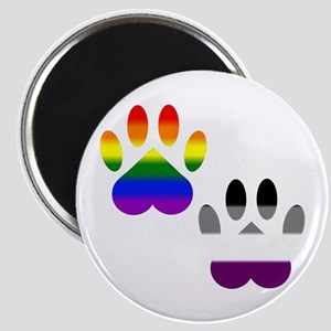 Gay Ace Pride Paws Magnet