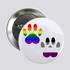 "Gay Ace Pride Paws 2.25"" Button"