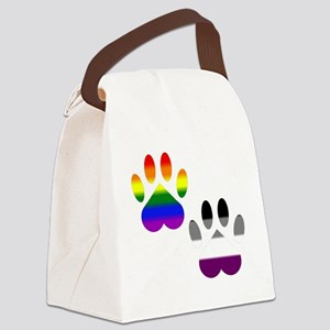Gay Ace Pride Paws Canvas Lunch Bag