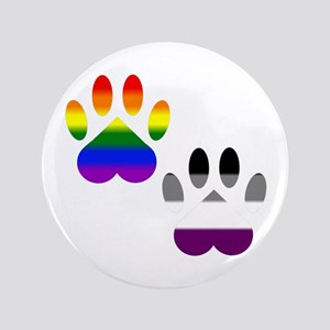Gay Ace Pride Paws Button
