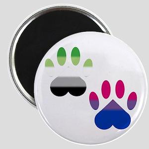 Bi Aro Pride Paws Magnet