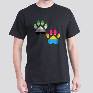 Aro Pansexual Pride Paws Dark T-Shirt