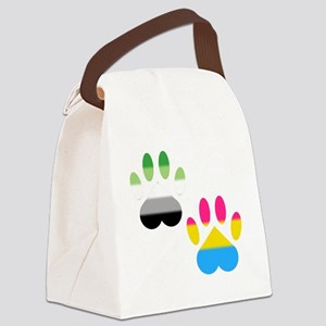 Aro Pansexual Pride Paws Canvas Lunch Bag