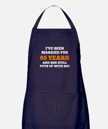 Ive Been Married For 65 Years Apron (dark)