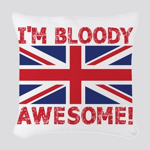 I'm Bloody Awesome! Union Jack Woven Throw Pil