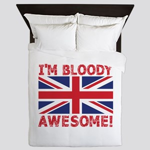 I'm Bloody Awesome! Union Jack Flag Queen Duvet