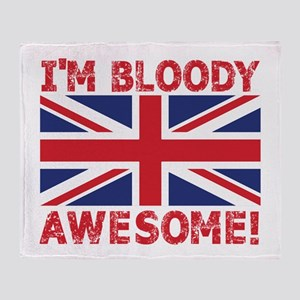 I'm Bloody Awesome! Union Jack Flag Throw Blanket