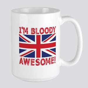 I'm Bloody Awesome! Union Jack Flag Mugs