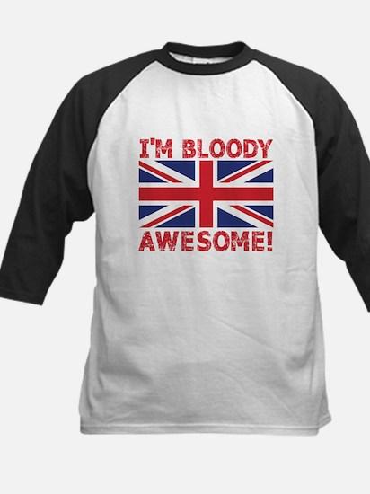 I'm Bloody Awesome! Union Jack Flag Baseball Jerse