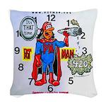 Time For Pot-Man! Woven Throw Pillow