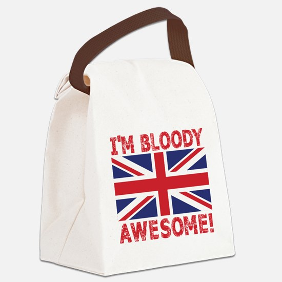 I'm Bloody Awesome! Union Jack Flag Canvas Lunch B