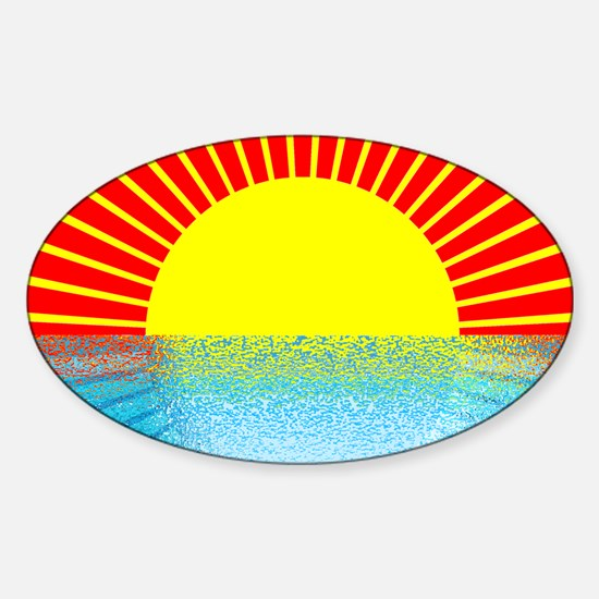 sunset over ripple water Decal