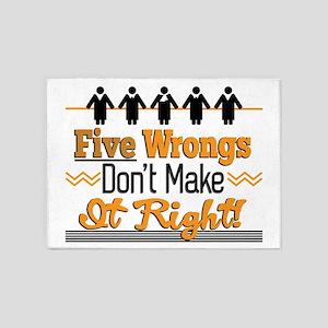 Five Wrongs 5'x7'Area Rug
