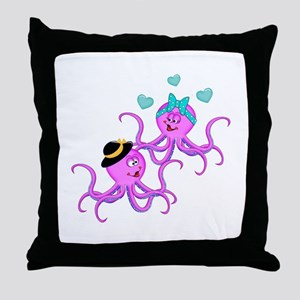 Octopus Love - Throw Pillow