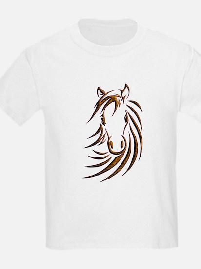 Brown Horse Head T-Shirt