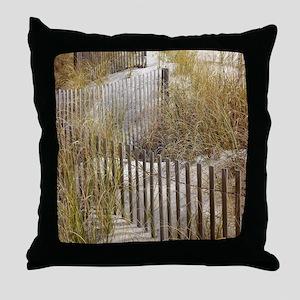 Beach Walkway Gifts Throw Pillow