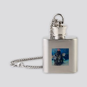 Underwater Fish Merchandise Flask Necklace