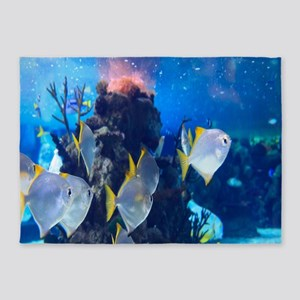 Underwater Fish Merchandise 5'x7'Area Rug