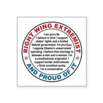 Right Wing Extremist Sticker