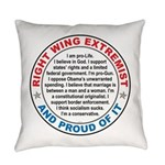 Right Wing Extremist Everyday Pillow
