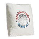Right Wing Extremist Burlap Throw Pillow